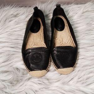 Michael Kors Women's Leather Espadrille Flat 7.5 M